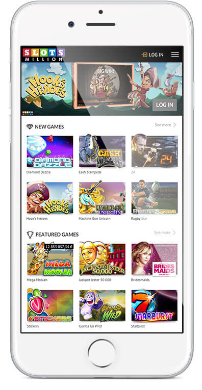 The Selection of games at Oculus Mobile Casino